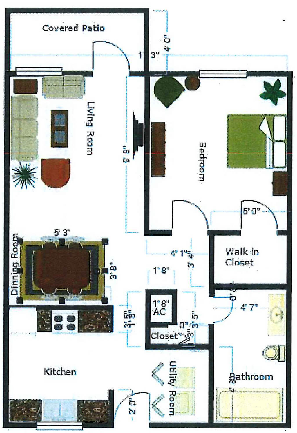 A Cottage floor plan image